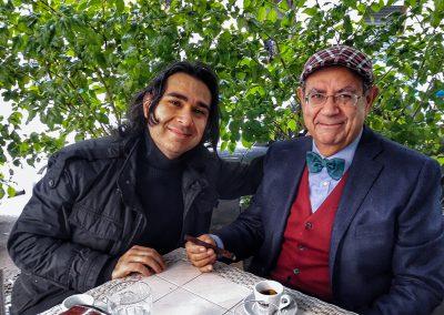 Con Enzo Puccio