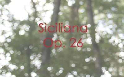 Siciliana Op. 26